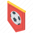 football label, soccer flag, soccer label, soccer logo, sports league icon