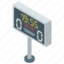 digital scoreboard, game score, score count, scoreboard, sports score icon