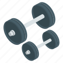 dumbbells, gym equipment, heavy lifting, kettlebells, weight lifting icon