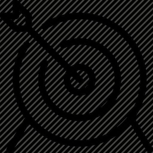 archery, arrow, game, line-icon, sports, target icon