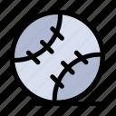 ball, baseball, sport, stiched