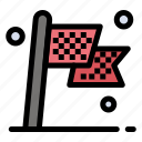 check, checkered, destination, flag, race icon