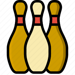 bowling, game, pins, play, sport icon