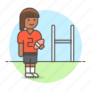 american, face, female, field, football, goal, gridiron, guard, helmet, outfit, sports icon
