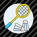 badminton, bird, birdie, racquet, shuttlecock, sports icon