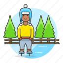 beanie, half, hat, ice, knit, male, skate, skating, sports, trapper, tree, winter icon