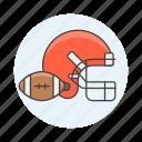 american, ball, equipment, face, football, gear, guard, helmet, sports icon