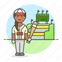 baseball, bat, batter, bleachers, female, grandstand, player, scoreboard, sports, stadium icon
