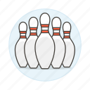 bowling, kegling, pin, pins, skittle, sports icon