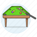 sports, table, pool, stick, pocket, game, cue, billiards icon