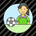 ball, female, football, member, player, shirt, soccer, sports, t, team icon
