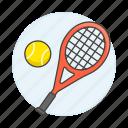 ball, racket, racquet, sports, tennis icon