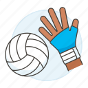 2, apparel, ball, equipment, gear, glove, hand, hit, sports, volleyball icon