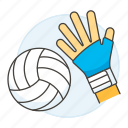 3, apparel, ball, equipment, gear, glove, hand, hit, sports, volleyball icon