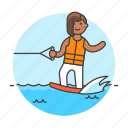 athlete, board, female, ridder, sports, wakeboard, wakeboarding, water icon