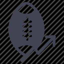 arrow, football, rise, sports, statistics icon