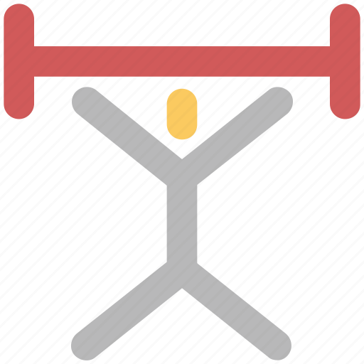 exercise, fitness, gym, gymnast, gymnastic, strength, weight lifter icon