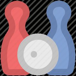 alley pins, bowling ball, bowling game, bowling pins, game, hitting pins, sports, tenpins icon