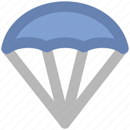 charliere, parachute, parachute balloon, parasail, paratrooper, skydiving, sports icon