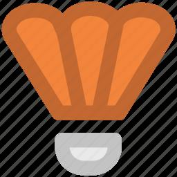 badminton, badminton birdie, feather shuttlecock, game, shuttlecock, sports equipment icon
