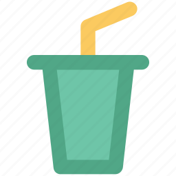 beverage, drink, glass with straw, juice cup, shake cup, soft drink icon