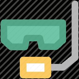 dive mask, scuba mask, snorkel mask, snorkel tube, snorkeling, swimming equipment icon