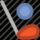 ball, golf stick, hockey, hockey stick, sports, sports ball