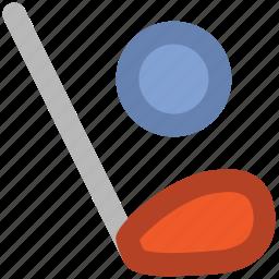 ball, golf stick, hockey, hockey stick, sports, sports ball icon