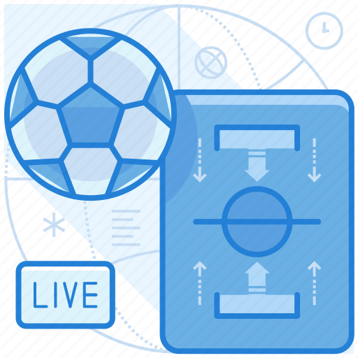 ball, football, live, soccer icon