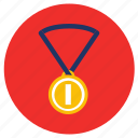 games, gold, medal, sports, winner icon