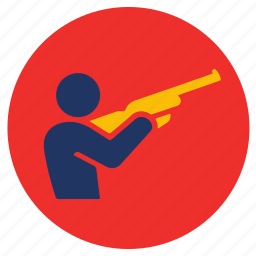 games, gun, shooting, sports icon