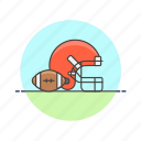 football, sports, ball, equipment, helmet, rough, rugby icon