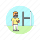 american, ball, football, man, rugby, score, sports, touchdown icon