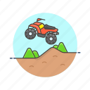 atv, extreme, jump, quad, safari, sports, vehicle icon