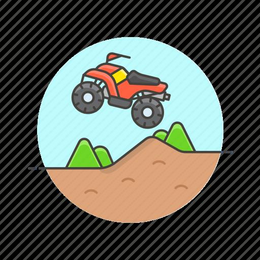 atv, extreme, jump, quad, safari, sports, vehicle icon