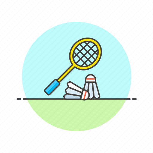 badminton, equipment, exercise, play, racket, sports, train icon