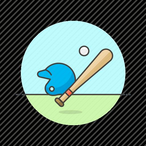 ball, baseball, bat, equipment, game, helmet, sports icon