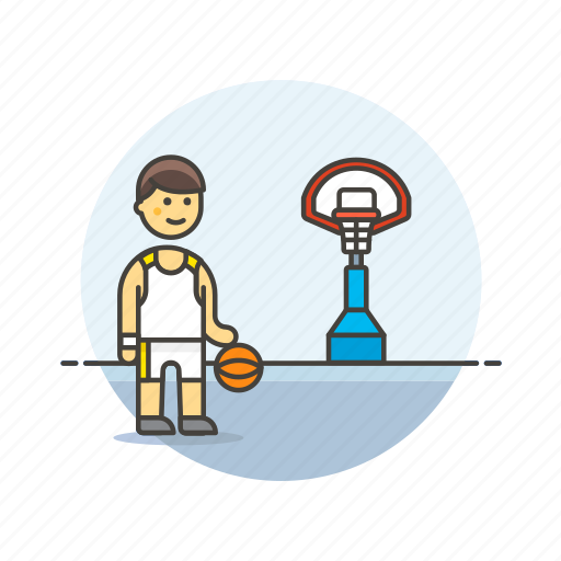 basketball, game, man, play, score, sports, street icon