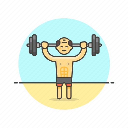 beach, body, builder, fitness, sports, train, weight, workout icon
