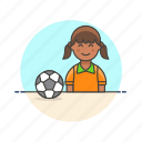 bal, football, game, play, soccer, sports, woman icon