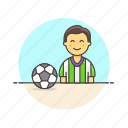 ball, football, game, man, play, soccer, sports icon