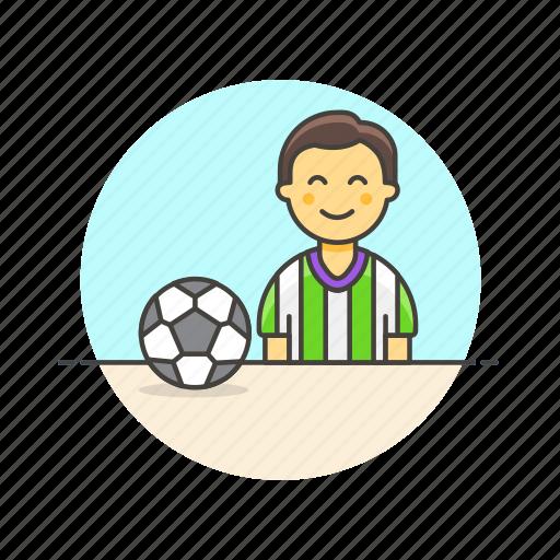 ball, football, game, man, play, soccer, sports icon