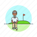 african, american, golfer, male, sports icon