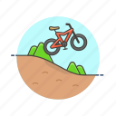 bike, mountain, sports, adventure, danger, extreme, ride