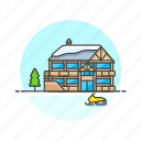 cold, house, ski, snow, sports, winter icon