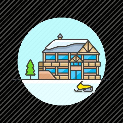 cold, house, ski, snow, sports, winter icon
