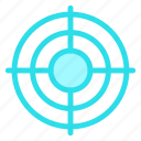 aim, goal, see, target icon