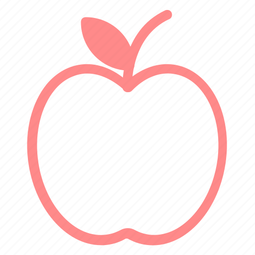 apple, food, fruit, healthyfood icon