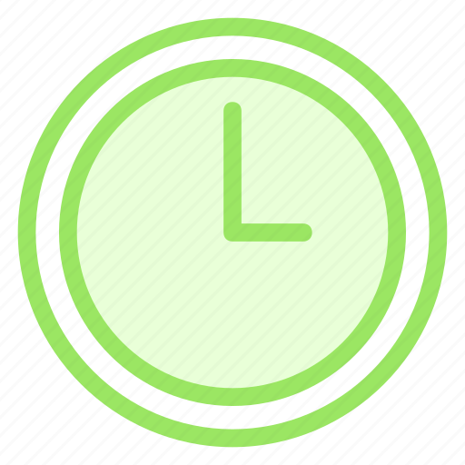 clock, outline, time, tool icon