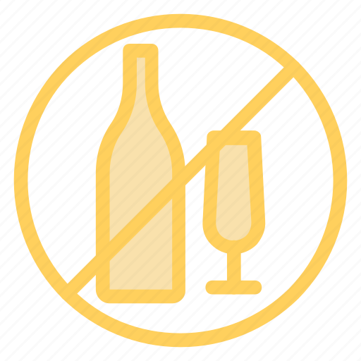 diet, drinks, notallowed, prohibitedalcohol icon